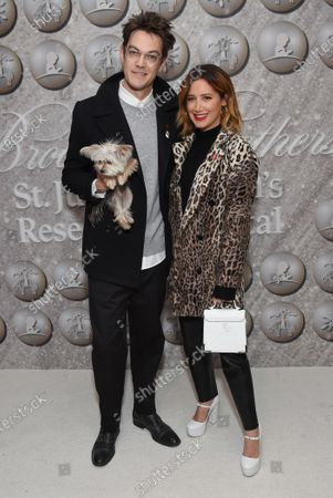 Stock Picture of Ashley Tisdale, Christopher French and dog Ziggy