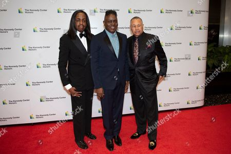 Verdine White, Philip Bailey, Ralph Johnson. 2019 Kennedy Center Honorees Earth, Wind & Fire members, from left, bassist Verdine White, singer Philip Bailey and percussionist Ralph Johnson arrive at the State Department for the Kennedy Center Honors State Department Dinner, in Washington