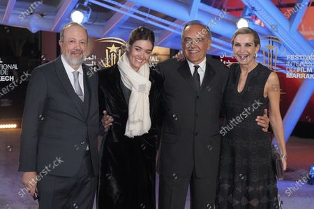 Giulia Rosmarini, Alberto Barbera, Melita Toscan du Plantier and guest