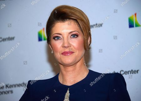 CBS Evening News anchor Norah O'Donnell arrives for the formal Artist's Dinner honoring the recipients of the 42nd Annual Kennedy Center Honors at the United States Department of State.