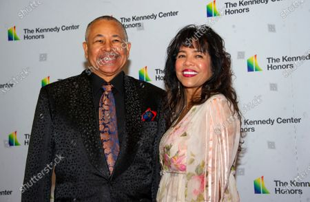 Percussionist Ralph Johnson of Earth, Wind and Fire and his wife, Susan Johnson, arrive for the Artist's Dinner, honoring the recipients of the 42nd Annual Kennedy Center Honors, at the United States Department of State in Washington, DC, USA, 07 December 2019. The 2019 honorees were Earth, Wind & Fire, Sally Field, Linda Ronstadt, Sesame Street and Michael Tilson Thomas.