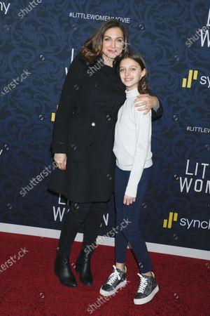 Stock Image of Paula Faris and daughter Caroline Grace Krueger