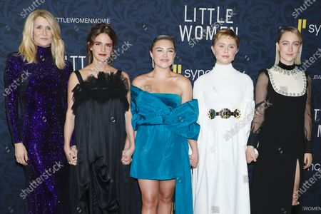Stock Image of Laura Dern, Emma Watson, Florence Pugh, Eliza Scanlen, Saoirse Ronan