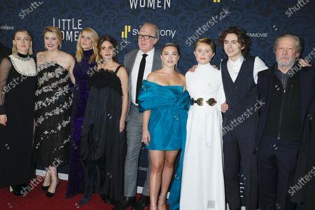 Stock Picture of Saoirse Ronan, Greta Gerwig, Laura Dern, Emma Watson, Tracy Letts, Florence Pugh, Eliza Scanlen, Timothee Chalamet, Chris Cooper