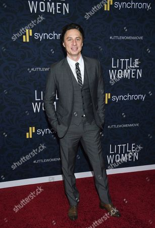 "Zach Braff attends the premiere of ""Little Women"" at the Museum of Modern Art, in New York"