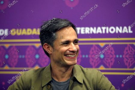 Mexican actor and director Gael Garcia Bernal speaks during a press conference at the 33rd International Book Fair (FIL) in Guadalajara, Mexico, 07 December 2019. Garcia Bernal said Saturday that Mexico can take advantage of its proximity to the United States and be a springboard for Latin American films to be distributed in in the USA.