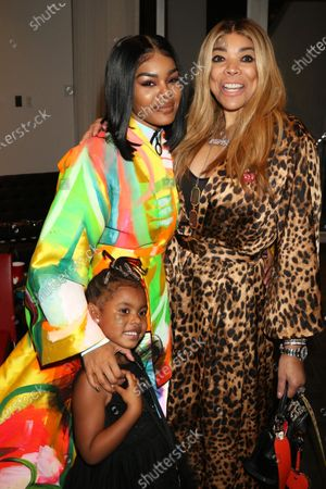 Teyana Taylor and daughter Junie and Wendy Williams