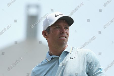Stock Photo of Paul Casey of Britain looks on at the 8th hole during the final round of The Australian Open golf championship at The Australian Golf Club in Sydney, Australia, 08 December 2019.