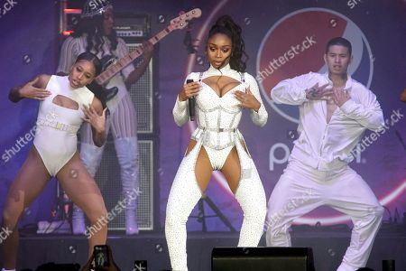 Normani performs during the B96 Jingle Bash at the Allstate Arena, in Rosemont, Ill