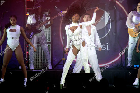 Stock Photo of Normani performs during the B96 Jingle Bash at the Allstate Arena, in Rosemont, Ill
