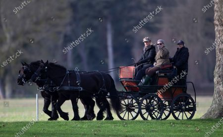 Editorial image of Sophie Countess Of Wessex out Carriage Driving at Windsor Castle, UK - 07 Dec 2019