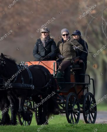 Editorial photo of Sophie Countess Of Wessex out Carriage Driving at Windsor Castle, UK - 07 Dec 2019