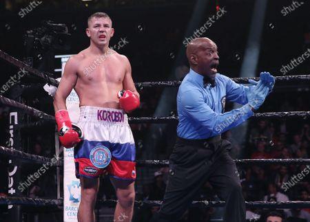 Editorial photo of Chris Eubank Jr. vs Matt Korobov in WBA interim middleweight world championship fight, New York, USA - 07 Dec 2019