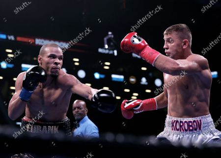Stock Picture of Britain's Chris Eubank Jr. (L) fights Russia's Matt Korobov (R) during a World Boxing Association (WBA) interim middleweight world championship fight at the Barclays Center in New York, USA, 07 December 2019.
