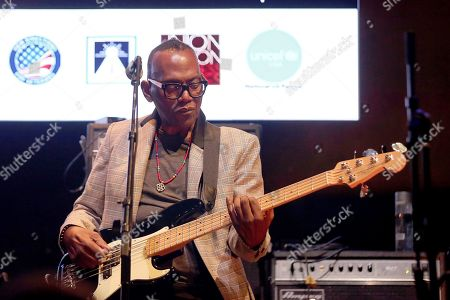 """Stock Picture of Randy Jackson performs live on stage at """"The World's Biggest Sleep Out"""" event at The Rose Bowl, in Pasadena, Calif"""