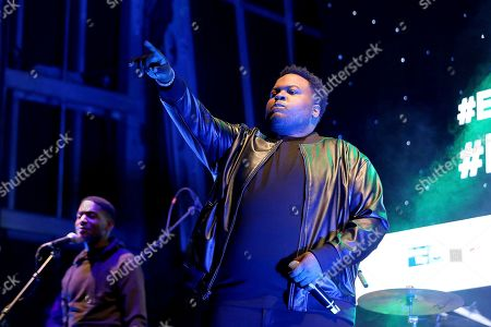 """Stock Picture of Sean Kingston performs live on stage at """"The World's Biggest Sleep Out"""" event at The Rose Bowl, in Pasadena, Calif"""