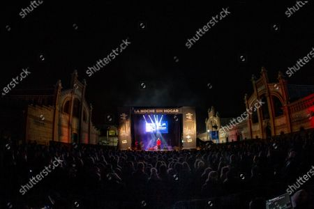 People attend a concert of Marlango in the framework of an action in support of homeless in Madrid, Spain, early 08 December 2019. The action was organized by World's Big Sleep Out movement to raise public awareness of the situation of underprivileged.