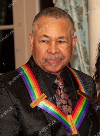 Percussionist Ralph Johnson of the band Earth, Wind and Fire, one of the recipients of the 42nd Annual Kennedy Center Honors, poses as part of a group photo following a dinner at the United States Department of State in Washington, DC, USA, 07 December 2019. The 2019 honorees were Earth, Wind & Fire, Sally Field, Linda Ronstadt, Sesame Street and Michael Tilson Thomas.