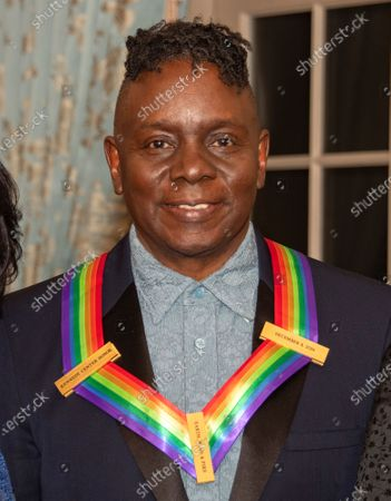 Philip Bailey of the band Earth, Wind and Fire, one of the recipients of the 42nd Annual Kennedy Center Honors, poses as part of a group photo following a dinner at the United States Department of State in Washington, DC, USA, 07 December 2019. The 2019 honorees were Earth, Wind & Fire, Sally Field, Linda Ronstadt, Sesame Street and Michael Tilson Thomas.