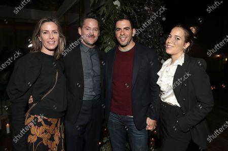 Stock Photo of Jocelyne Cooper, Scott Cooper, Eli Roth, Vittoria Buraschi