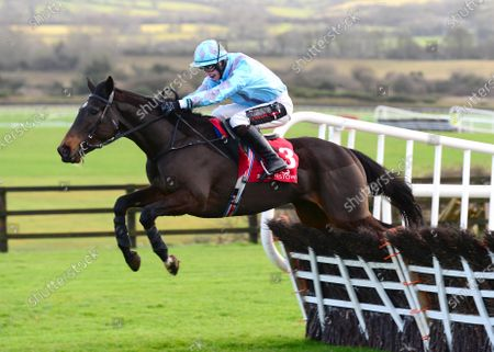 PUNCHESTOWN. ANYTHING WILL DO and J J Slevin jumps the last to win for trainer Joseph O'Brien.