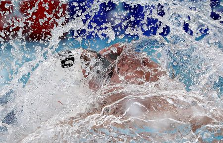 Richard Bochus of Hungary competes in the semifinal of men's 50m backstroke at the LEN European Short Course Swimming Championships 2019 in Glasgow, Scotland, Britain, 08 December 2019.
