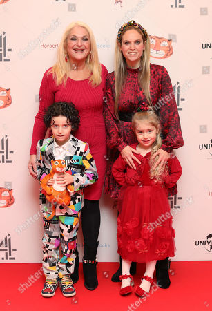 Vanessa Feltz and daughter Allegra Kurer, grandchildren