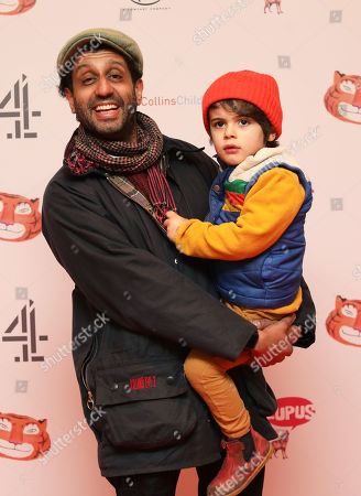 Stock Image of Adeel Akhtar and son