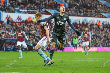 Jamie Vardy of Leicester City during the Premier League match between Aston Villa and Leicester City at Villa Park, Birmingham