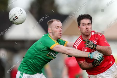 Meath vs Louth. Louth's Cathal Bellew and Brian Conlon of Meath
