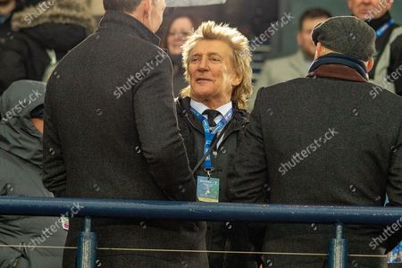 Special Guest and huge Celtic Fan, Rod Stewart talks to Chris Sutton ahead of the Betfred Scottish League Cup Final match between Rangers and Celtic at Hampden Park, Glasgow