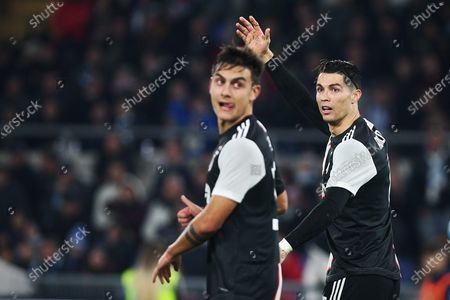 Cristiano Ronaldo of Juventus (R) protests against referee during the Italian championship Serie A football match between SS Lazio and Juventus on at Stadio Olimpico in Rome, Italy - Photo Federico Proietti/ESPA-Images