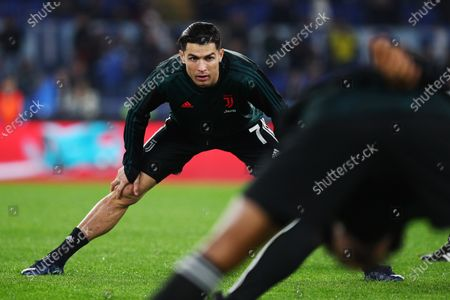 Cristiano Ronaldo of Juventus warming up before the Italian championship Serie A football match between SS Lazio and Juventus on at Stadio Olimpico in Rome, Italy - Photo Federico Proietti/ESPA-Images