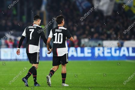 Cristiano ronaldo and Paulo Dybala of Juventus during the Italian championship Serie A football match between SS Lazio and Juventus on at Stadio Olimpico in Rome, Italy - Photo Federico Proietti/ESPA-Images