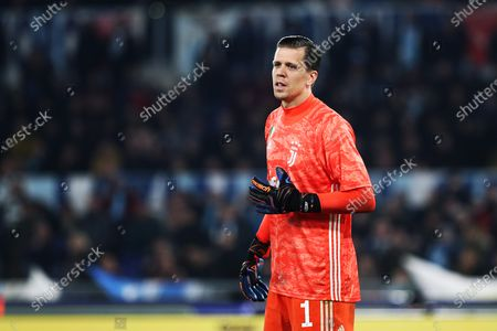 Stock Image of Wojciech Szczesny of Juventus gestures during the Italian championship Serie A football match between SS Lazio and Juventus on at Stadio Olimpico in Rome, Italy - Photo Federico Proietti/ESPA-Images