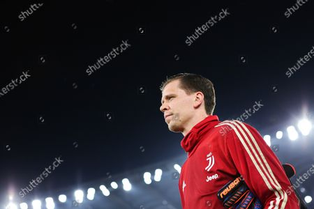 Stock Picture of Wojciech Szczesny of Juventus at the end of the warm up before the Italian championship Serie A football match between SS Lazio and Juventus on at Stadio Olimpico in Rome, Italy - Photo Federico Proietti/ESPA-Images