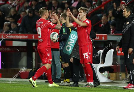 Stock Photo of Einwechselung Marius Buelter, Auswechselung Sebastian Polter    / Sport / Football / DFL Bundesliga  /  2019/2020 / 08.12.2019 / 1.FC Union Berlin FCU vs. 1.FC Koeln / DFL regulations prohibit any use of photographs as image sequences and/or quasi-video. /