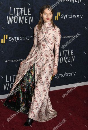 Editorial photo of 'Little Women' film premiere, Arrivals, The Museum of Modern Art, New York, USA - 07 Dec 2019