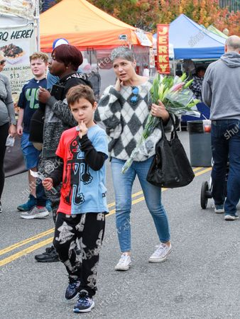 Stock Picture of Arthur Saint and Selma Blair at Studio City Farmers Market