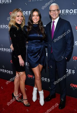 Stock Photo of Kelly Ripa, Lola Consuelos and Anderson Cooper