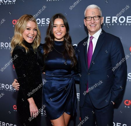 Stock Image of Kelly Ripa, Lola Consuelos and Anderson Cooper