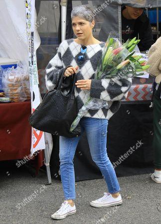 Selma Blair at Studio City Farmers Market