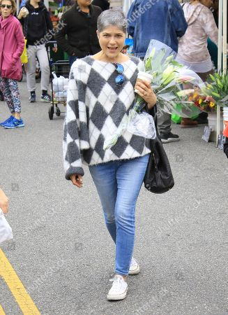 Stock Photo of Selma Blair at Studio City Farmers Market