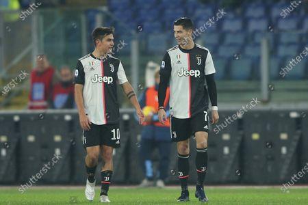 Paulo Dybala and Cristiano Ronaldo of Juventus
