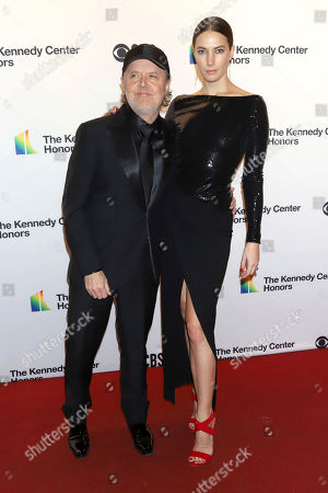Stock Image of Lars Ulrich, Jessica Miller. Lars Ulrich and Jessica Miller attend the 42nd Annual Kennedy Center Honors at The Kennedy Center, in Washington