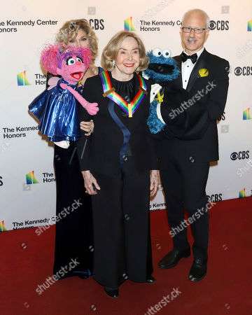 Stock Photo of 2019 Kennedy Center honoree, Sesame Street co-founder Joan Ganz Cooney attends the 42nd Annual Kennedy Center Honors at The Kennedy Center, in Washington