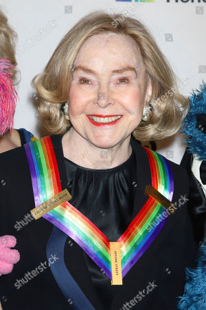 Stock Picture of 2019 Kennedy Center honoree, Sesame Street co-founder Joan Ganz Cooney attends the 42nd Annual Kennedy Center Honors at The Kennedy Center, in Washington