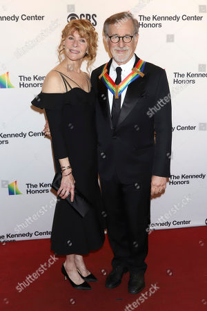 Kate Capshaw, Steven Spielberg. Kate Capshaw and Steven Spielberg attend the 42nd Annual Kennedy Center Honors at The Kennedy Center, in Washington