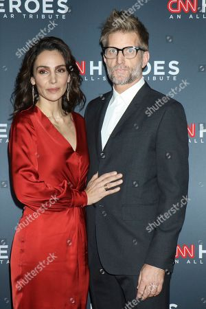 Stock Image of Annie Parisse and Paul Sparks