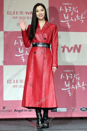 Stock Photo of Seo Ji-hye, who stars in the new drama 'Crash Landing on You,' poses during a showcase in Seoul, South Korea, 09 December 2019.